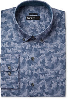 Bar III Men's Slim-Fit Wear Me Out Indigo Camo-Print Dress Shirt, Only at Macy's