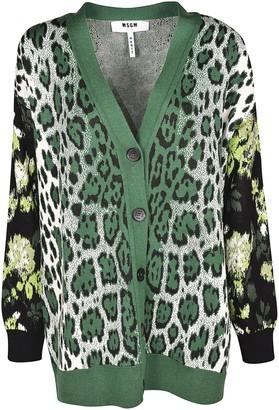 MSGM Leopard Pattern Cardigan