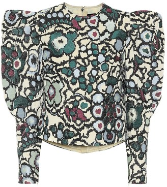 Isabel Marant Damili printed cotton blouse