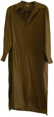 Arket Brown Silk Dress for Women