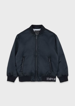 Emporio Armani Bomber With Embroidered Logo