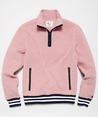 Todd Snyder + Champion Lightweight Polartec Half Zip in Pinkwater