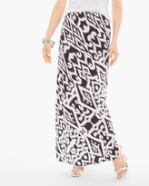 Chico's Tribal Bi-Color Maxi Skirt