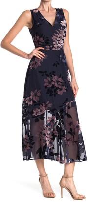 Sam Edelman Vintage Floral Burnout Maxi Dress
