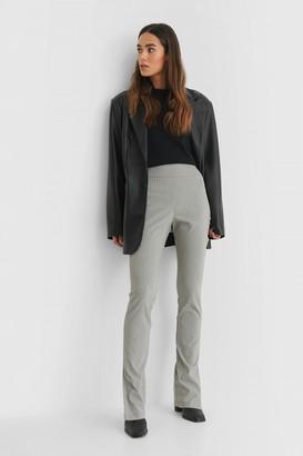 NA-KD Striped Stretch Slit Pants