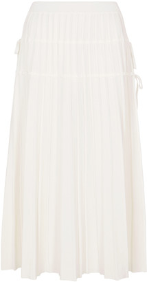 Jonathan Simkhai Raelynn pleated stretch-knit midi skirt