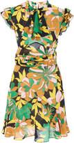 N°21 N 21 Andrea Floral Crepe De Chine Dress