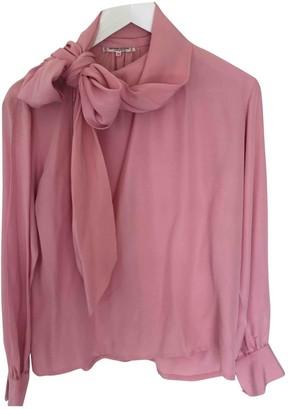 Saint Laurent Pink Silk Tops