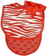 Raindrops Unisex Baby Zebra Bib And Burp Set