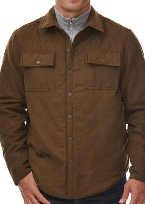 Rainforest Faux Suede Quilted Shirt Jacket