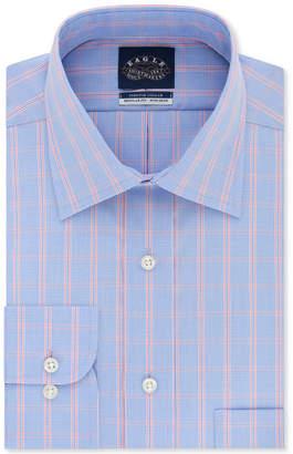 Eagle Men Classic-Fit Flex Collar Check Dress Shirt