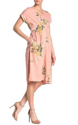 Angie Button Up V-Neck Dress