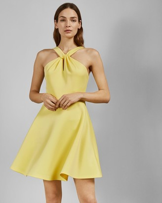 Ted Baker Twist Neck Skater Dress
