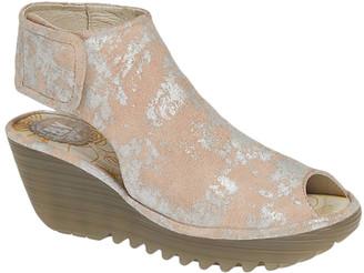 Fly London Women's Sandals 024 - Rose Corcuma Yone Leather Slingback Wedge Sandal - Women