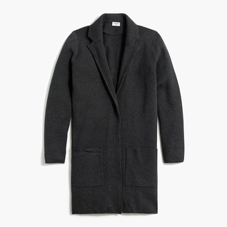 J.Crew Long open sweater-jacket
