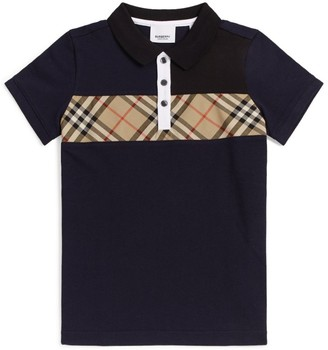 Burberry Kids Vintage Check Trim Polo Shirt (3-12 Years)