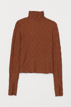 H&M Long-sleeved Turtleneck Top