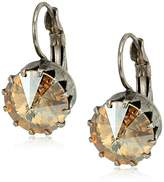 Sorrelli Satin Blush Regal Rivoli Drop Earrings