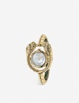 Gucci YA149505 Dionysus silver watch yellow-gold watch