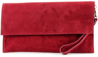 Modamoda de - ital. Leather bag Clutch Underarm bag Evening bag City bag suede T151