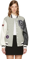 Opening Ceremony Grey Wool Varsity Bomber Jacket