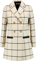 Tory Burch Plaid twill coat