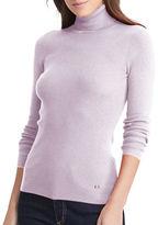 Lauren Ralph Lauren Petite Amanda Ribbed Turtleneck Sweater