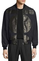 McQ by Alexander McQueen MA01 Leather-Patch Bomber Jacket
