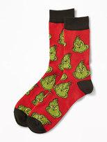 Old Navy Dr. Seuss Grinch Graphic Socks for Men