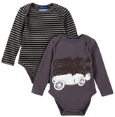 Andy & Evan Charcoal Race Car & Charcoal Stripes - Set of 2 (Baby Boys)