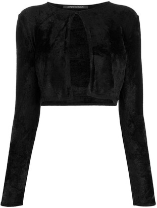 Antonino Valenti Cropped Long-Sleeve Cardigan