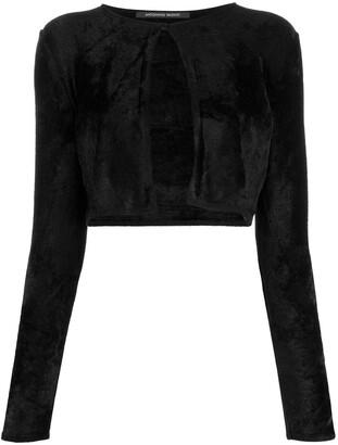 Antonino Valenti Cropped Long-Sleeve Cardigan