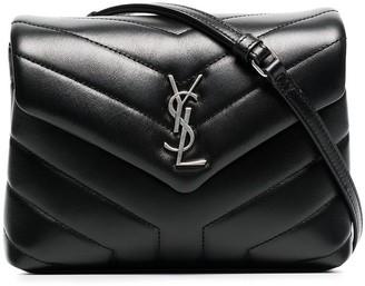 Saint Laurent Monogram detail quilted leather bag