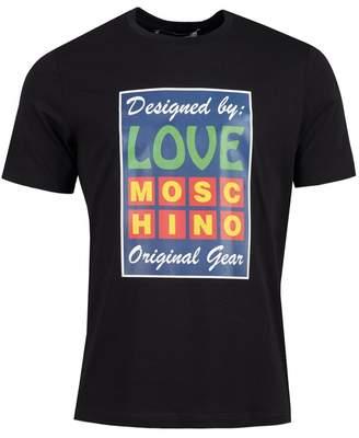 Moschino Original Gear Reg Fit T-shirt Colour: BLACK, Size: MEDIUM
