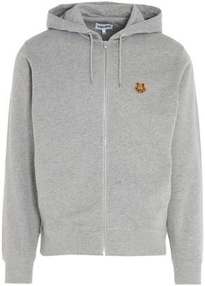 Kenzo Tiger Crest Zipped Hooded Sweatshirt