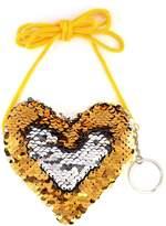 Riah Fashion Reversible-Heart Sequin Crossbody-Bag