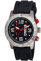 Breed Silver & Black Grand Prix Chronograph Watch
