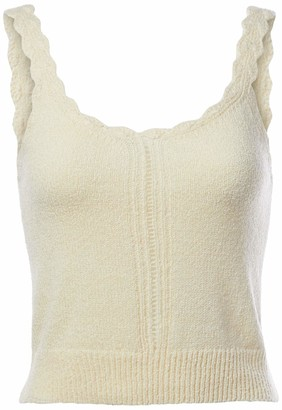 ASTR the Label Women's Sleeveless Textured Knit Marni Top