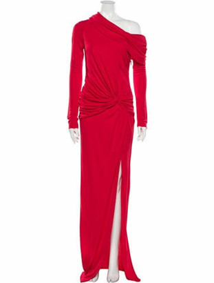 Prabal Gurung Asymmetrical Knee-Length Dress w/ Tags Red
