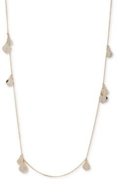 "DKNY Gold-Tone Flower Petal Strand Necklace, 42"" + 3"" extender"