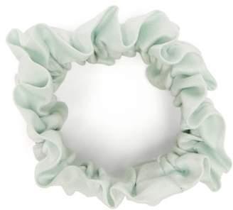 Lunya - Ruched Silk Scrunchie - Womens - Light Blue