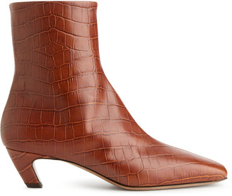 Arket Mid-Heel Leather Ankle Boots