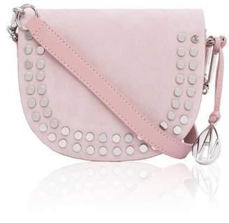 Amanda Wakeley Pink Suede Midi Crossbody Cooper Bag