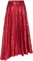 Maison Margiela leaf embossed asymmetric midi skirt