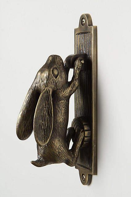 Anthropologie Swinging Hare Door Knocker