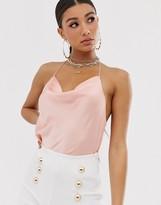 Asos DESIGN cowl neck cami with embellished strap