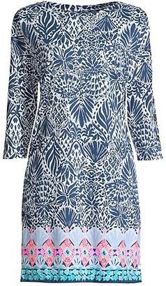 Lilly Pulitzer Vivvy Print Three-Quarter Sleeve Shift Dress