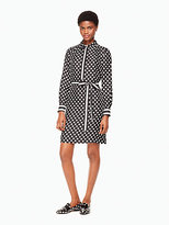 Kate Spade Dot stripe silk shirtdress