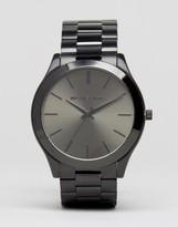 Michael Kors Slim Runway Bracelet Watch In Stainless Steel MK8507