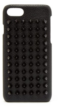 Christian Louboutin Loubiphone Leather Iphone 8 Case - Mens - Black